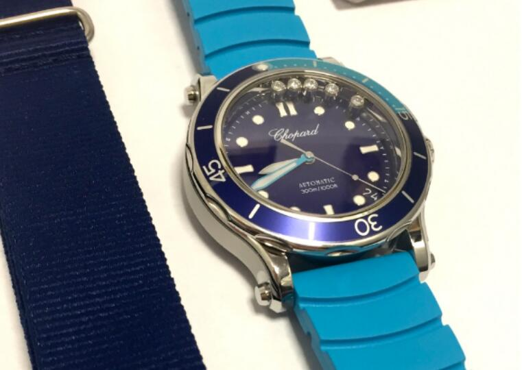 CA Chopard Happy Ocean Replica Watches With Blue Dials