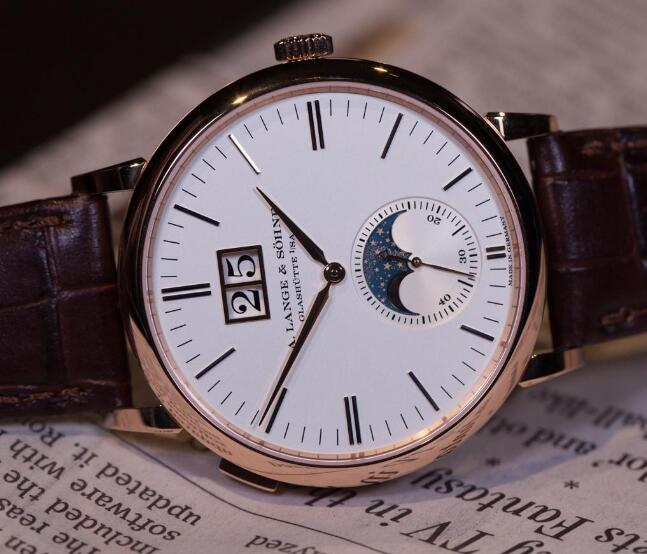 Replica A. Lange & Söhne Saxonia Moonphase Watches CA With Concise And Remarkable Style