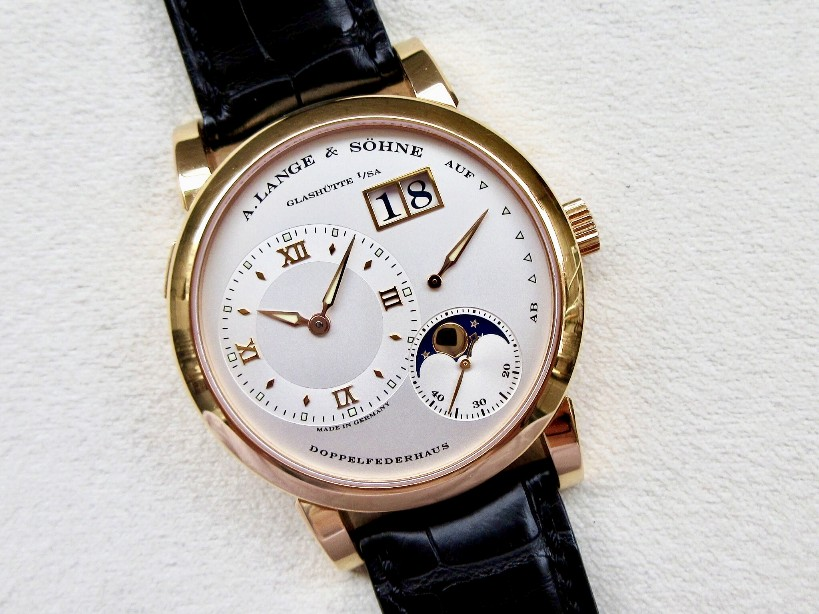 Perfect A. Lange & Söhne Lange 1 109.032 Replica Watch CA With Silvery Off-centred Dial For Sale