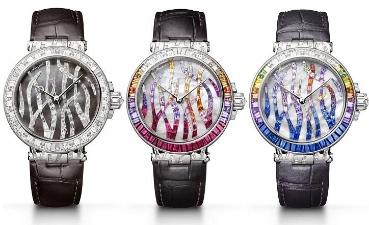 Swiss replica watches present three charming forms.