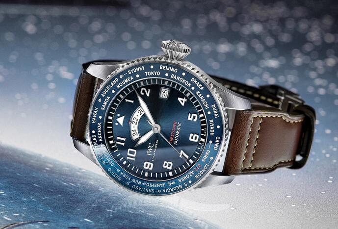 "Male High-class Replica IWC Pilot's Watches Timezone Edition ""Le Petit Prince"" IW395503 Canada"