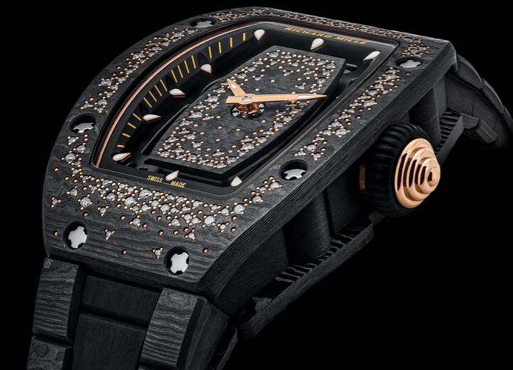 Swiss fake watches are evident for the red gold elements.