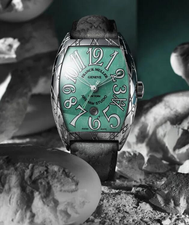 Swiss made fake watches are impressive with green color.