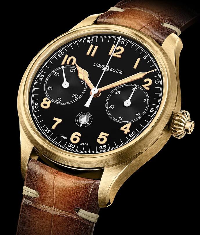 Delicate replica watches are set with Arabic numerals.